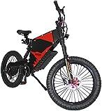 RSTJ-Sjap Bicicleta eléctrica de montaña estupenda Estilo e-Motorcycle, 72V 3000W FC-1 Stealth Bomber Bicicleta eléctrica