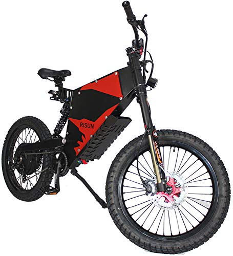 RSTJ-Sjap E-Motorcycle Style Super Mountain eBike, 72V 3000W FC-1 Stealth Bomber Electric bicycle