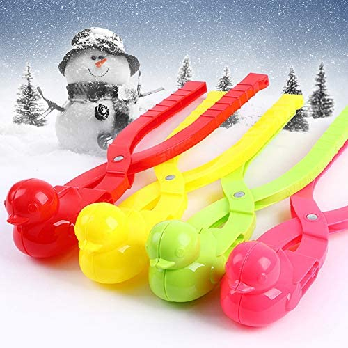 Panzisun Duck Shape Snowball Maker Clip Outdoor Snow Sand Making Mold Children Winter Snow Scoop Fight Sports Toy Tool Gifts for Boys Girls Christmas Holiday Family Birthday C