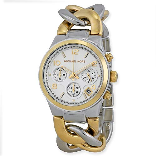 Relógio Michael Kors Runway Twist (dois tons dourado)