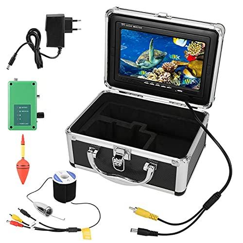Tomanbery Cámara de Video de Pesca HD en Tiempo Real multidireccional 164 pies de Larga duración 1000 TVL IP68 buscador de(European regulations)