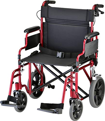 "NOVA Medical Products 22"" Heavy Duty Transport Wheelchair is a sturdy, bariatric transport wheelchairs"