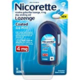 Nicorette Coated Nicotine Lozenge to Stop Smoking, 4 Mg, Ice Mint, 20Count