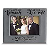 BELLA BUSTA- I'll Love You Forever,I'll Like You for Always,as Long as I'm Living, My Daddy You'll be - Engraved Leather Picture Frame- Family Frame Daddy and Me (5 x 7 Horizontal)