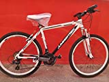 CINZIA Bici Bicicletta 26' MTB Boulder 21V Alluminio Forcella Ammortizzata (Bianco-Nero)