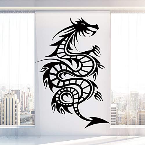 sanzangtang Spiral Drachen Wandaufkleber selbstklebend Vinyl wasserdicht Wandkunst Aufkleber Dekoration Kunst Wandaufkleber wasserdicht Tapete 54x79cm