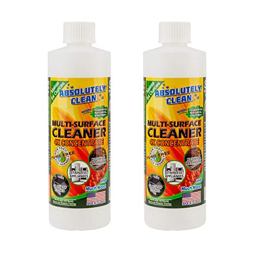Natural Based Multi-Purpose Household Cleaner, Powerful, Natural Enzymes Make Cleaning Easy - USA Made (2pack 16oz Concentrate - Makes 8 Bottles - Only $2.50 per 16oz Refill)