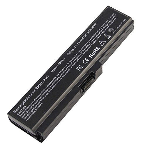 ARyee 5200mAh Laptop Battery for Toshiba PA3817U-1BRS PA3818U-1BRS PA3819U-1BRS PABAS228 Toshiba Satellite C650 C650D C655 C660 C660D C670 C670D L600 L630 L675 L675D L700 L730 L735 L740 L745 L750