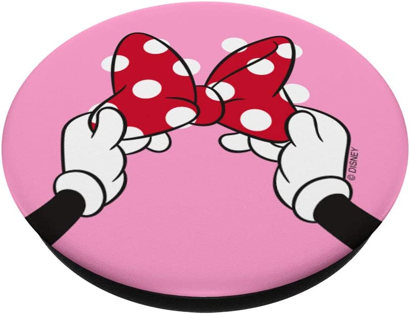 Swappable Grip for Phones /& Tablets Disney Minnie Mouse Polka Dot Bow on Pink PopSockets PopGrip