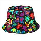 Gorra de Sombreros Transpirables de Tapa Plana Unisex Colorido Animal Print-6546 Sombrero de Sol Sombrero de Pescador de Verano