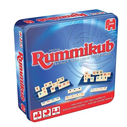 Jumbo JUM03973 Original Rummikub in Metalldose Gesellschaftsspiel, Ab 7 Jahren