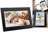 """DENVER PFF-710BLACK Marco digital de fotos de 7"""" con conexión Wi-Fi. Temporizador. Software fotográfico para enviar fotos desde la aplicación móvil al marco. Resolución: 1024x600. Color Negro"""