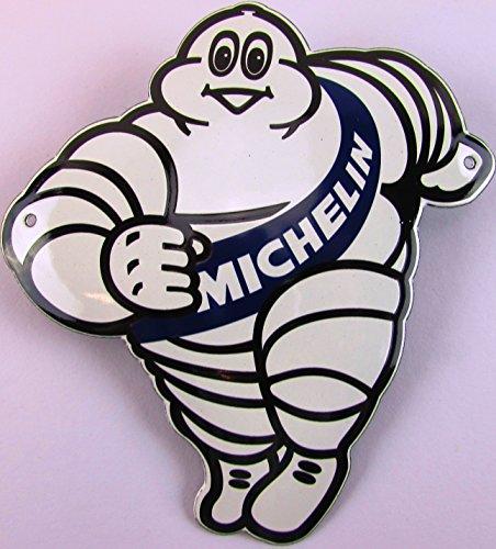 NUEVO BBV Emaille–Cartel (Muñeco de Michelin, 15cm x 14cm, Classic nostálgico Cartel años 50Life Style Retro Fifties