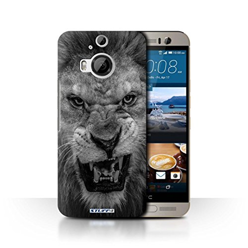 Hülle Für HTC One M9+/Plus Zoo-Tiere Löwe Design Transparent Ultra Dünn Klar Hart Schutz Handyhülle Hülle