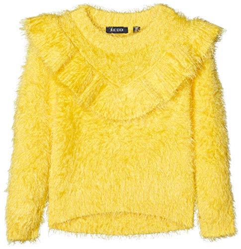 Blue Seven Mädchen Federgarn Pullover, Gelb (Sun Orig 151), (Herstellergröße: 128)