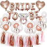 SHINsuke Suministros de despedida de soltera, 44 piezas de accesorios para decoración de despedida de soltera, incluye borla colgante, pancarta de novia para ser, globo de diamante, globos
