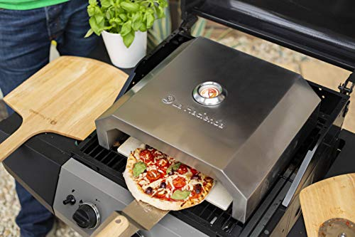 La Hacienda 56294 BBQ Pizza Oven Stainles Outdoor Heating, Stainless Steel