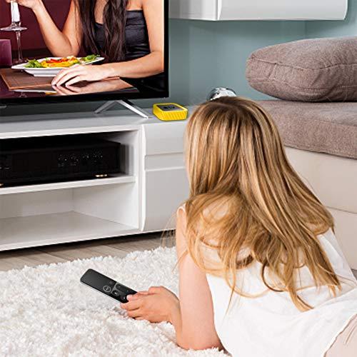 SITHON Silikon Hülle für Apple TV 4K (2nd & 1st Gen)/Apple TV HD, leicht, stoßfest, rutschfest, Schutzhülle für Apple TV 4K 2021/HD 4th Generation, Gelb