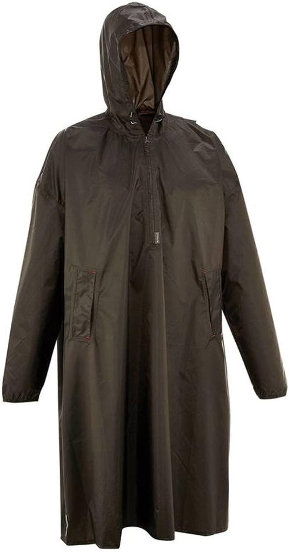 ZAY YuYi XRXY Poncho Adult Waterproof Portable Poncho Outdoor Hiking Riding Raincoat Size Optional Dark Grey Windproof Raincoat