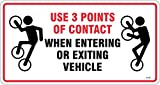 Sticker x 20 - Use 3 Points of Contact When Entering or Exiting Vehicle