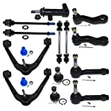 DLZ 13 Pcs Front Kit-Upper Control Arm Lower Ball Joint Tie Rod End Sway Bar Pitman Arm Idler Arm Idler Arm Assembly Compatible with Tahoe Silverado/GMC Sierra 1500 Yukon K8987 ES3493T