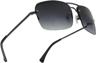 Classic Square Aviator Bifocal Sun Reading LIghtweight Sports Sunglasses for Men and Women