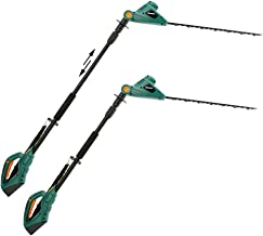 DOEWORKS 20V Li-ion 2 in 1 Multi-Angle Battery Trimmer, Cordless Electric Pole Hedge Trimmer with 20