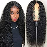 Iris Queen Kinky Curly Human Hair Wigs for Black Women 4x4 Lace Closure Wigs Human Hair 9A Brazilian Hair Wig Pre Plucked with Baby Hair 150% Density (26 inch)