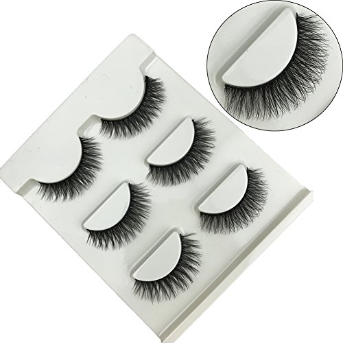 3 Pairs Black Long Thick False Eyelashes Natural 3D Eye Lashes Cross Fashion Extension for Makeup