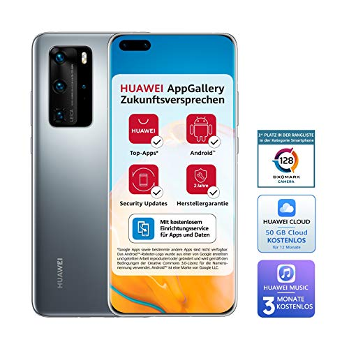 Huawei P40 Pro Smartphone, 8 GB, Argento (Silver Frost)