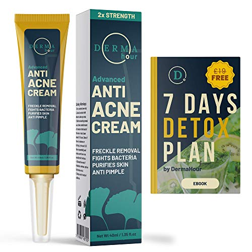 WINNER 2020. Anti Acne Removal Cream by DermaHour. Formula for Pimples, Spot, Skin Tag, and Ingrown Hair....