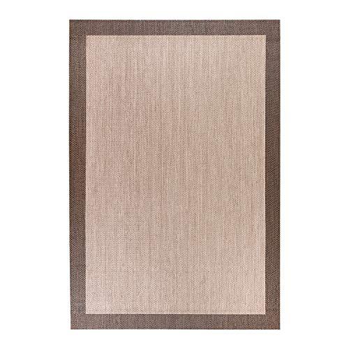 STORESDECO - Alfombra Vinílica Deblon, Alfombra de PVC Antideslizante y Resistente, Ideal para Salón, Pasillo, Cocina, Baño… | Color Marrón, 80 cm x 150 cm