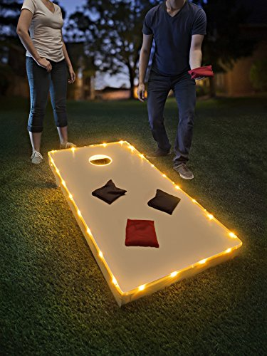 Brightz TossBrightz Cornhole/Bean Bag Game LED Lighting Kit (Lights Only, No Boards), Gold