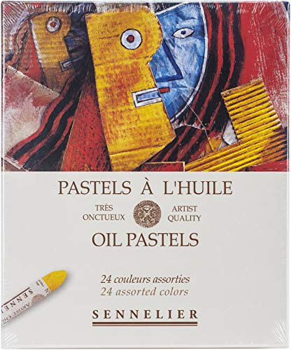 Savoir-Faire 32520240 Sennelier Oil Pastels Set 24/Pkg-Assorted