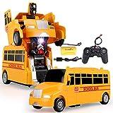 AIOJY La deformación de un Solo botón del autobús Escolar de Control Remoto de Coches Drift Robot eléctricos inalámbricos de Coche de niños Niños, Adultos Niños Mejor cumpleaños