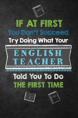 Funny English Teacher Notebook