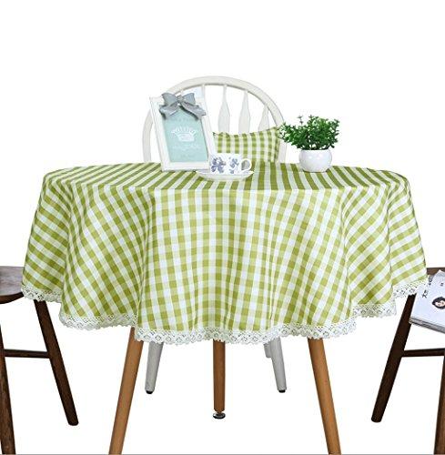 GWM Table Bubu Arts Nappe Ronde étanche à la poussière et Facile à Nettoyer 110 cm, Tissu, Round Tablecloth 130cm