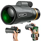 K&F Concept - Monocular 12x50 Bak4 Impermeable con Soporte Móvil para observación de...