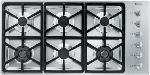 DCS CDU-365-L 36 Gas Cooktop 5 Sealed Dual Flow Burners Continuous Grates and Stainless Steel