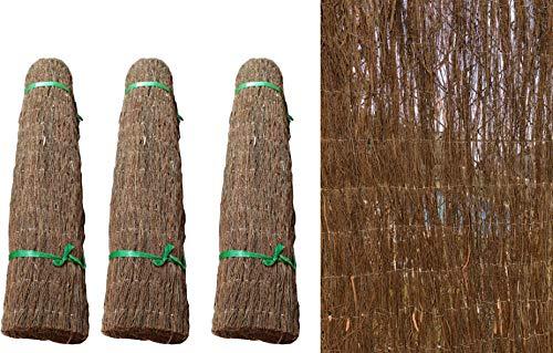 Pal Ferretería Industrial Rollo Brezo Natural Color marrón Oscuro. Rollo Brezo ecológico 1,5 m Altura por 3 m Longitud (3- Rollos Brezo)