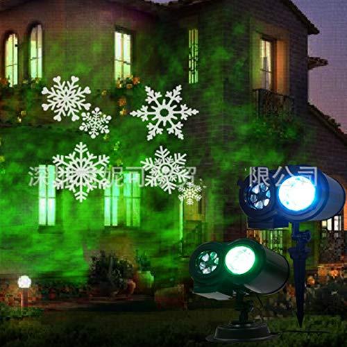 LIFEIYAN Projektor-LED-Licht, Laser-Licht 12/16 Muster Slides Licht LED-Projektor-Lampe Wasserdicht Doppelte Projektions-Licht Wasser Welle Licht Mit Fernbedienung For Party Im Freien Weihnachten Gebu