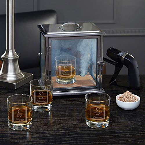 Oakhill Smoke Box Kit with Custom Whiskey Glasses (Personalized Product)