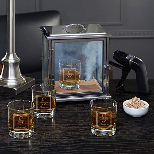 Oakhill Smoke Box Kit with Custom Whiskey Glasses (Personalized Product)