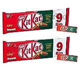 Kit KAT 2 Dedo Menta Oscuro Chocolate Galleta Barras 2 x 186,3 g