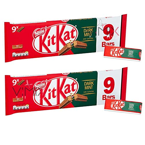 KIT KAT 2 Finger Dark Mint Chocolate Biscuit Bars 2 x 186.3g