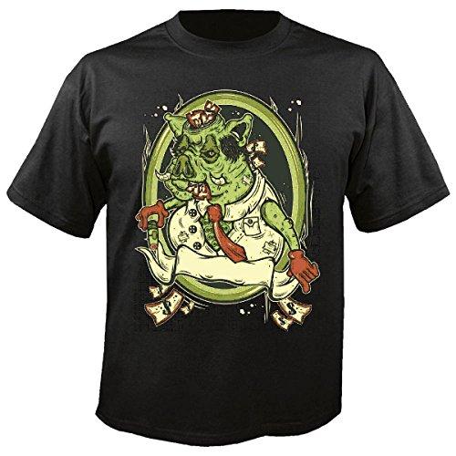 T-shirt Remera Boar EL set met strik van Casino Donar Boar Boar Cochinille thuis varken grill geluksvarken thuis Pig Boar kinderwagen in zwart