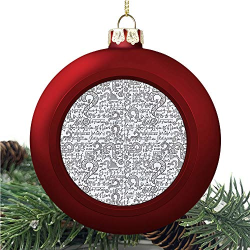 SUPNON Mathematical Pattern with | Christmas Ball Ornaments 2020 Christmas Pendant Personalized Creative Christmas Decorative Hanging Ornaments Christmas Tree Ornament №SW48266