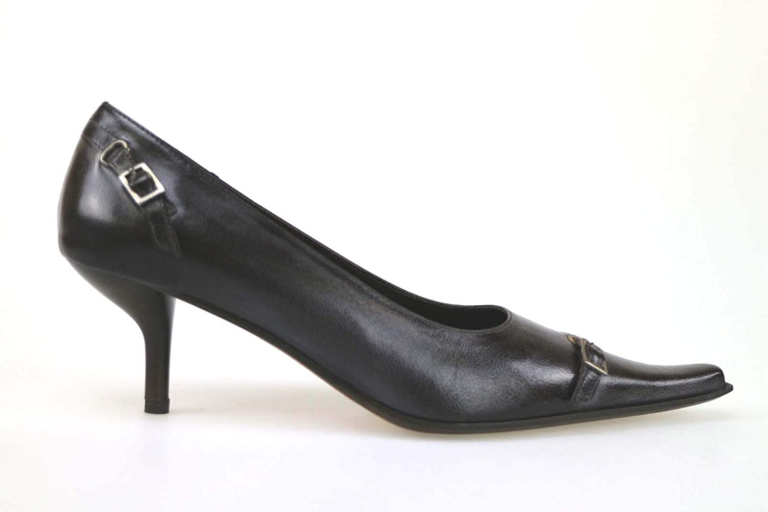 GIANNA GI Pumps-shoes Womens Leather Brown 10 US
