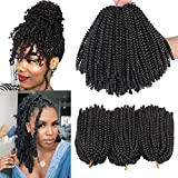 Xtrend 90strands 8 inch Spring Twist Crochet Hair for Distressed Butterfly Locs Passion Twist Synthetic Braiding Hair Extensions Fluffy Spring Twist Crochet Braids hair 110g/pcs 2#