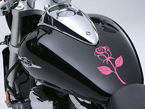 Rose Sticker Moto Réservoir à carburant voiture en 100 mm x 170 mm – Rose